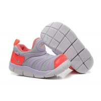 Nike Anti Skid Kids Wearable Breathable Caterpillar Running Shoes Grey Purple Pink