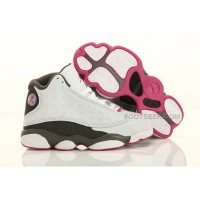 Nike Air Jordan 13 Kids White Grey Pink