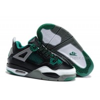 Nike Air Jordan 4 Kids Black Green Grey