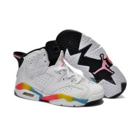 Nike Air Jordan 6 Kids White Pink Black