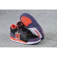 Nike Air Jordan 3 Kids Black Orange
