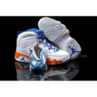 Nike Air Jordan 9 Kids White Orange Blue