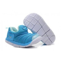 Nike Anti Skid Kids Wearable Breathable Caterpillar Running Shoes Sky Blue White