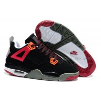 Nike Air Jordan 4 Kids Red Black Grey