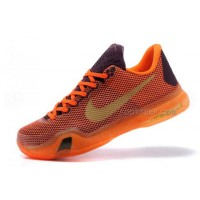 Nike Kobe 10 Silk Road Shoes Orange Red