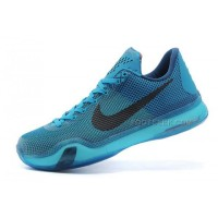 Nike Kobe 10 5 AM Flight Shoes Black Lightblue