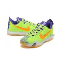 Kobe 10 Shoes Low Green Purple