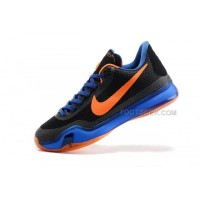 Nike Kobe 10 Black Blue Orange Shoes