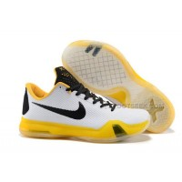 Nike Kobe 10 White/Yellow-Black
