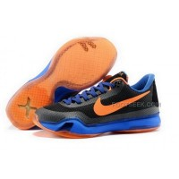 Nike Kobe 10 Black Orange Blue Mens Shoes