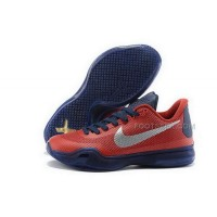 Nike Kobe 10 Orange Gold University Of Arizona Red Navy Silver Mens Shoes