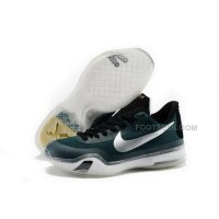 Nike Kobe 10 Dark Green Silver Mens Shoes