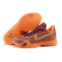 Nike Kobe 10 Silk Road Red Orange Mens Shoes