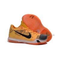 "Nike Kobe 10 Elite Low ""Chester"" Total Orange/Black-Laser Orange-Tumbled Grey"