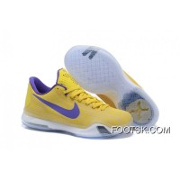 "Kobe 10 Safari Print ""Yellow Purple"" Cheap To Buy"