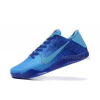 Nike Kobe 11 Low Full Blue Mens Basketball Shoes For Sale New