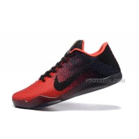 Hot Nike Kobe 11 Achilles Heel Red Black Basketball Shoes