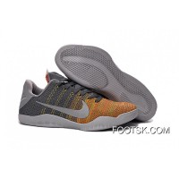 "Lastest 2016 Kobe 11 Elite Low ""Cool Grey"" Cool Grey/Voltage Green-Yellow Strike On Sale"