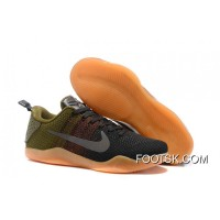 'Black Horse' Nike Kobe 11 Black/Team Red-Rough Green Super Deals WDxciRD