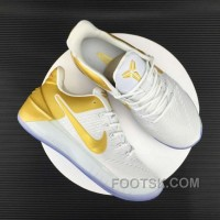 Nike Kobe 12 AD White Gold Men For Sale 28R2nB