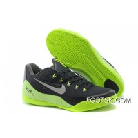 Cheap To Buy Nike Kobe 9 Low EM Black/Neon Green-Grey Online