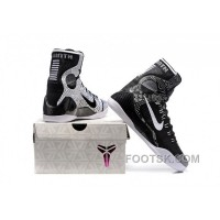 Nike Kobe 9 High Woven Black Men Shoes Discount