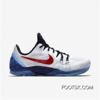 "2016 ""USA"" Nike Kobe Venomenon 5 White/Team Red-Midnight Navy For Sale FnJ283K"