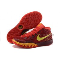Cheap Nike Kyrie 1 2015 Red Yellow Orange Basketball Shoes Sale 2016