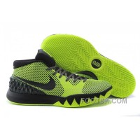 Christmas Deals Nike Kyrie 1 Grade School Shoes Black Green