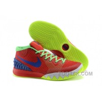 Authentic Nike Kyrie 1 Grade School Shoes Red Green