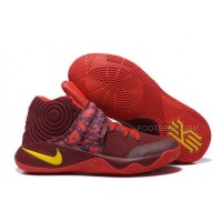"Nike Kyrie 2 ""Cavs"" PE Wine Red Yellow"