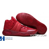 """Red Velvet"" Nike Kyrie 2 Team Red/Pure Platinium-Black New Release QE3S27"
