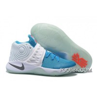'Christmas' Nike Kyrie 2 White/Obsidian-Blue Lagoon-Orange Blaze New Style E2T3C