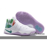 """Easter"" Nike Kyrie 2 White/Hyper Jade-Urban Lilac-Bright Mango For Sale WH63x"
