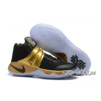 Nike Kyrie 2 Black Gold Men's Basketball Shoes Lastest DcNph7