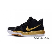 Nike Kyrie 3 Air Zoom 3 Black Gold For Sale