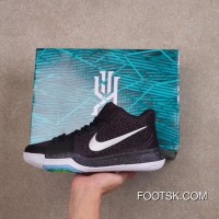 NIKE KYRIE 3 DJS Black White Cheap To Buy