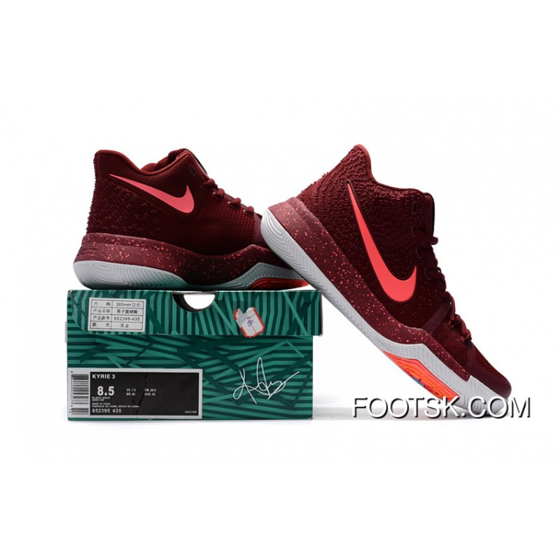 buy online 03a73 1dac6 Nike Kyrie 3 KYRIE 3 EPA 40--46 Burgundy Free Shipping