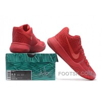 Nike Kyrie 3 Mens BasketBall Shoes All Red Top Deals