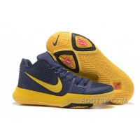 Nike Kyrie 3 Mens BasketBall Shoes Cavs Yellow For Sale 5HNWHtD