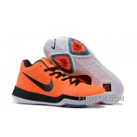Nike Kyrie 3 Mens BasketBall Shoes Orange Black Discount
