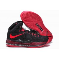 Nike LeBron 10 Carving Black/Fire Red Discount