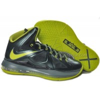 Nike Lebron 10 XDR Black/Fluorescent Green Discount