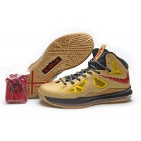 Nike Lebron 10 Gold/Red Discount