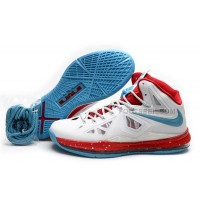 Nike Lebron 10 White/Red/Blue Discount