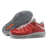 Nike Lebron X Low Shoes Red/Grey/Orange Discount