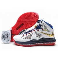 Nike Lebron 10(X) Carving Shoes Gold Medal Discount