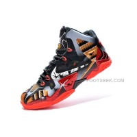 "Nike LeBron 11 ""Mark 6″ Ironman Customs Black Red Gold For Sale"