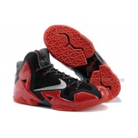 "Nike LeBron 11 ""Away"" Black/Metallic Silver-University Red-Bright Crimson-Dark Grey"