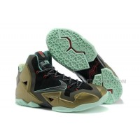 "Nike LeBron 11 ""King's Pride"" Parachute Gold/Arctic Green-Dark Loden-Black-University Red"